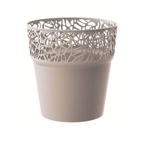 Prosperplast Obal na květináč Naturo kávová, pr. 17,5 cm
