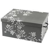 Úložný box Ornament 51 x 37 x 24 cm, šedá