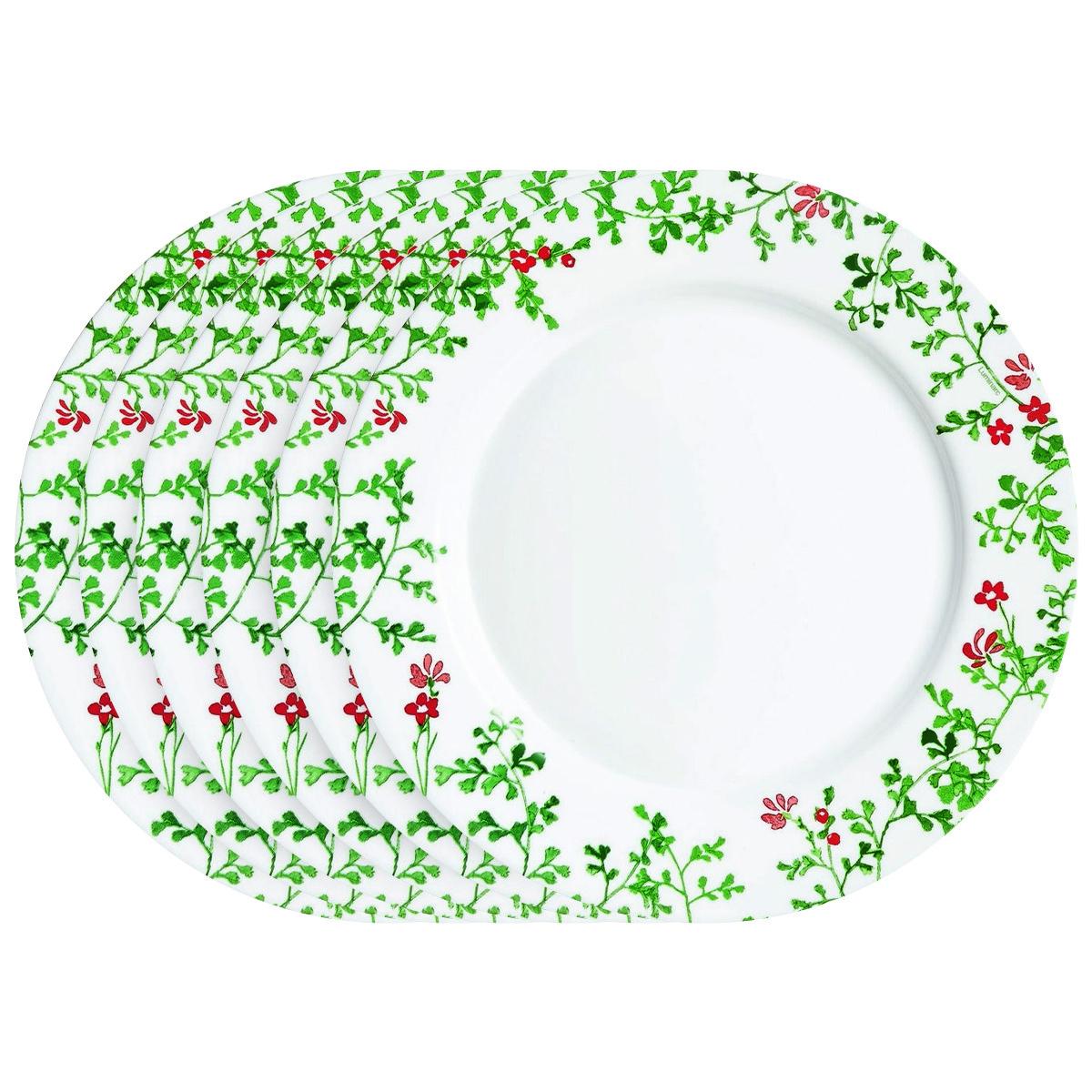 Luminarc Sada mělkých talířů Herbier 26,5 cm, 6 ks