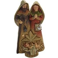 Szent Család karácsonyi dekoráció,  16,5 x 9 cm