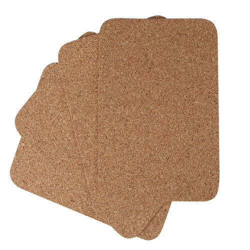 Korková podložka pod hrnec, 39 x 29 x 0,3 cm, 4 ks