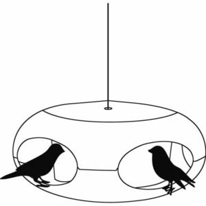 Krmítko pro ptáky PI:P, bílá