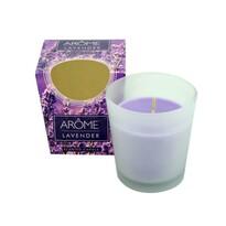 Arome Kónická vonná svíčka ve skle Lavender, 100 g