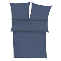 Zeitgeist Obliečky Lima satén - flanel 4670/630 modrá, 140 x 200 cm, 70 x 90 cm
