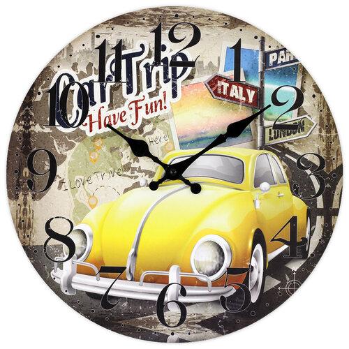 Zegar ścienny Mechanic on duty, śr. 34 cm