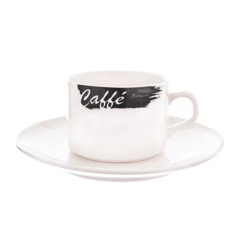 Orion porcelánová šálka s podšálkou Caffé 0,18 l, 2 ks