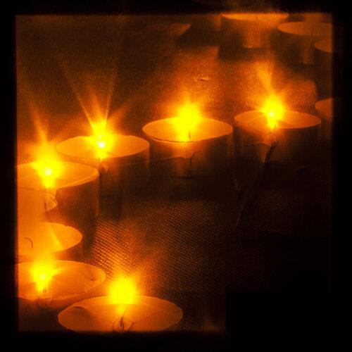 LED Obraz vianočné sviečky