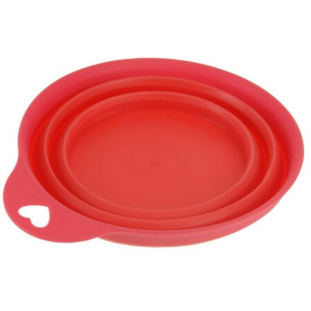 Skládací silikonová miska Colours, červená