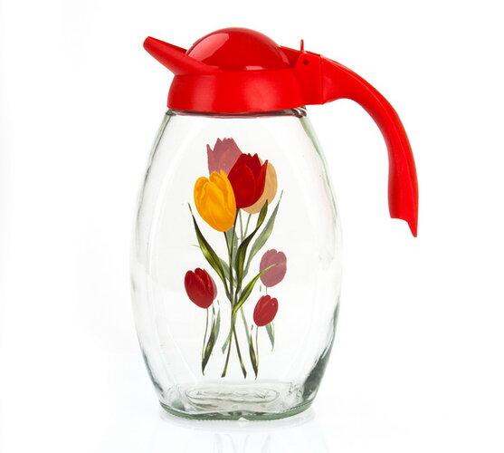 sklenený džbán