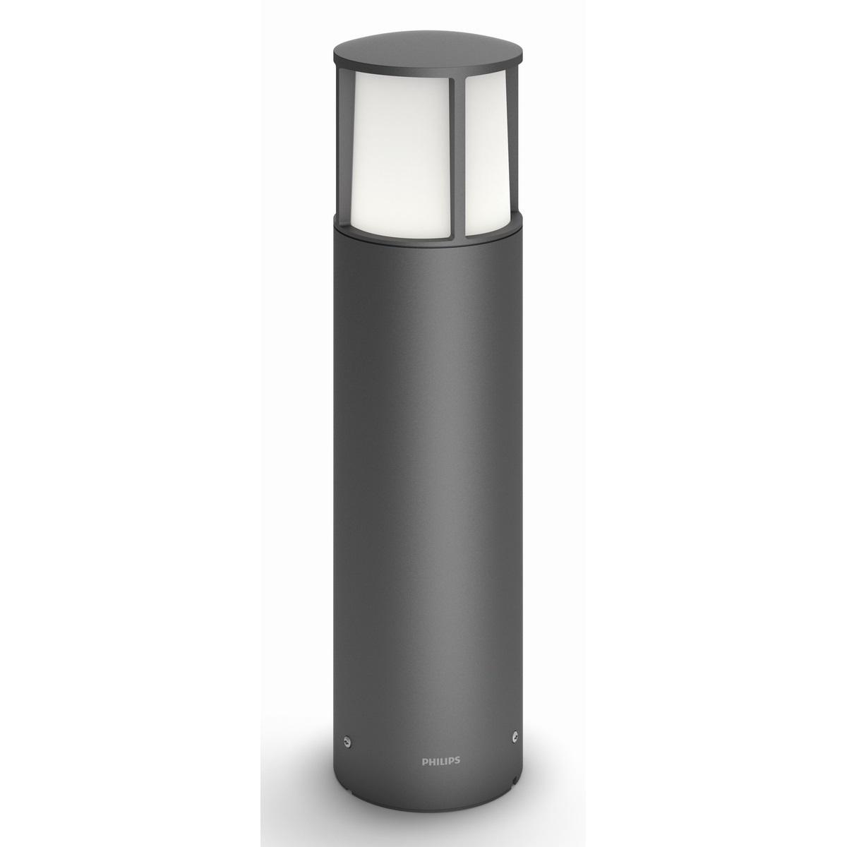 Philips 16466/93/16 Stock Vonkajšie stĺpikové LED svietidlo 40 cm, antracit