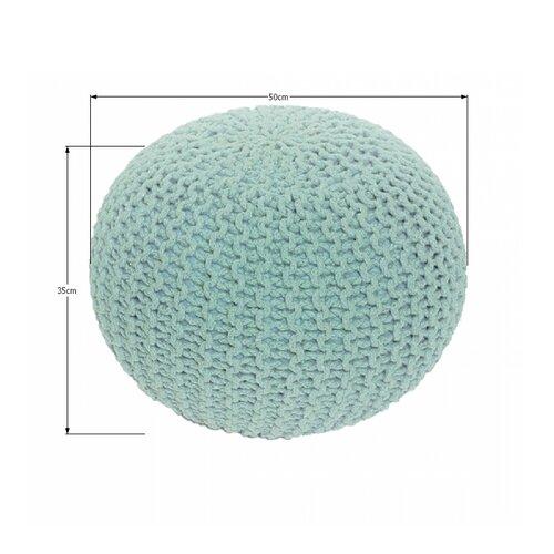 Pletený taburet Gobi 2, mentolová