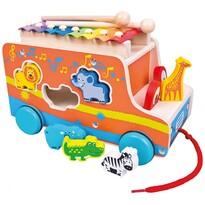Bino Vkladačka s xylofónom Auto, oranžová