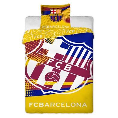 Bavlněné povlečení FC Barcelona Yellow, 140 x 200 cm, 70 x 90 cm