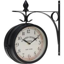 Zegar ścienny Grand Central, czarny, 33 cm