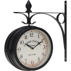 Nástenné hodiny Grand Central čierna, 33 cm