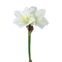 Umělá Amarylis bílozelená, 52 cm