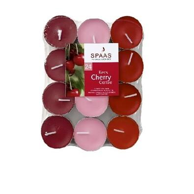 Spaas Cherry čajové svíčky 24 ks