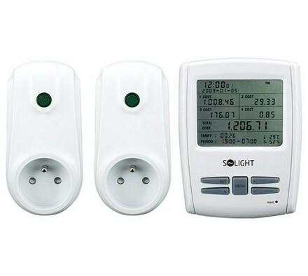 Solight Bezdrátový měřič spotřeby el.energie velký bílý