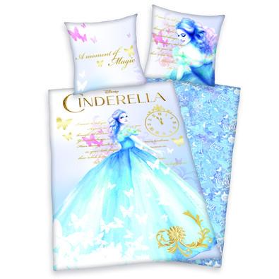Dětské bavlněné povlečení Cinderella, 140 x 200 cm, 70 x 90 cm