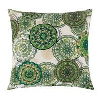 Poduszka Adela Mandala zielony, 40 x 40 cm