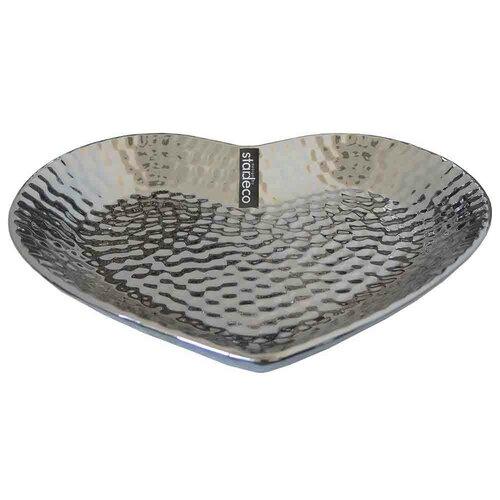 Amare ezüst kerámia tálca, 20 x 18 cm