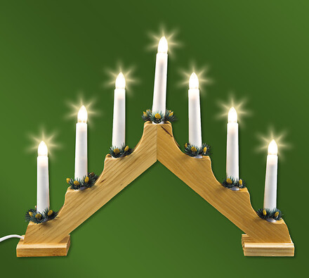 Vánoční dřevěný svícen