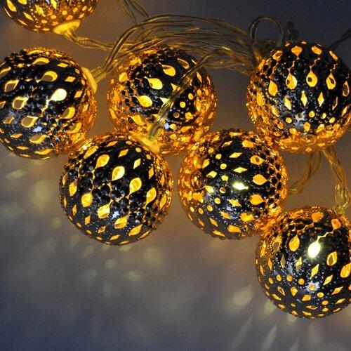 Solight 1V207-G Svetelná reťaz Gule zlatá, 10 LED