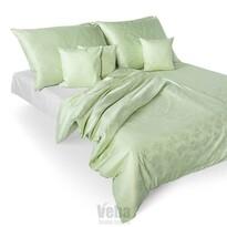 Veba Bohema Árvácskák damaszt ágynemű, zöld, 140 x 200 cm, 70 x 90 cm