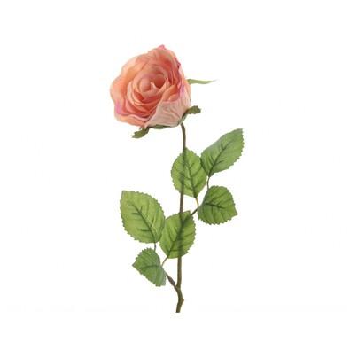 Umělá Růže oranžová, 45 cm