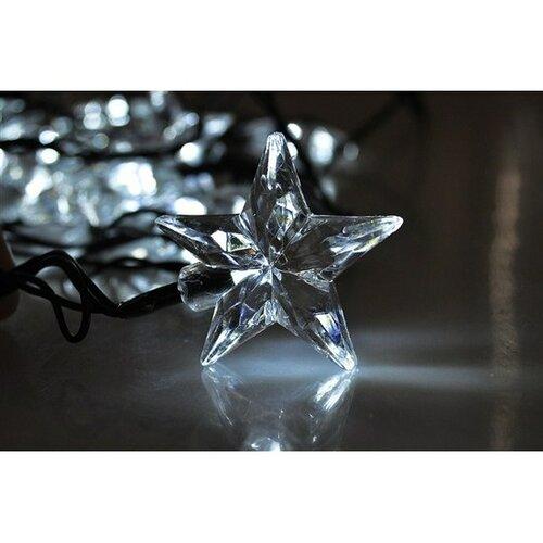 Solight Vánoční řetěz Hvězdy 20 LED studená bílá, 3 m