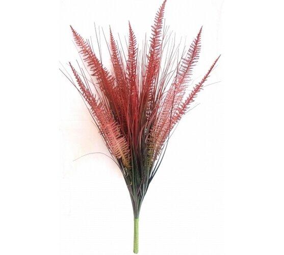 Umelá kytica trávy burgundy