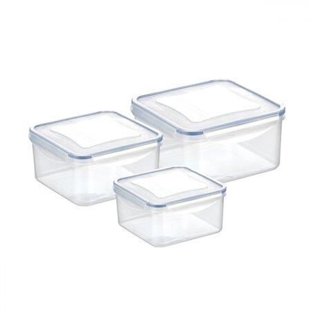 Tescoma 3-dielna sada dóz FRESHBOX, 1,2/2/3 l, štvorcová