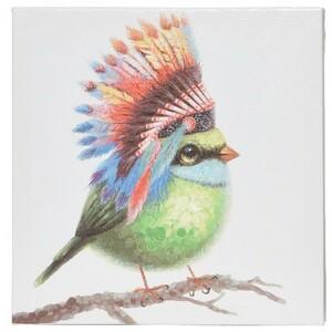 Obraz Colours Birdie zelená, 30 x 30 cm