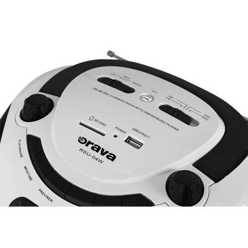 Orava RSU-04 W multimediální přenosný USB/SD přehrávač s rádiem