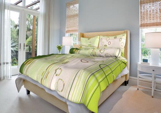 Bavlněné ložní povlečení Eva, zelená, 140 x 220 cm, 70 x 90 cm