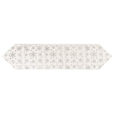Vánoční běhoun Vločka stříbrná, 32 x 140 cm