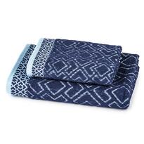 Osuška a uterák Geometria modrá, sada 2 ks