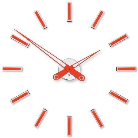 Future Time FT9600RD Modular red Designové samolepiace hodiny, pr. 60 cm