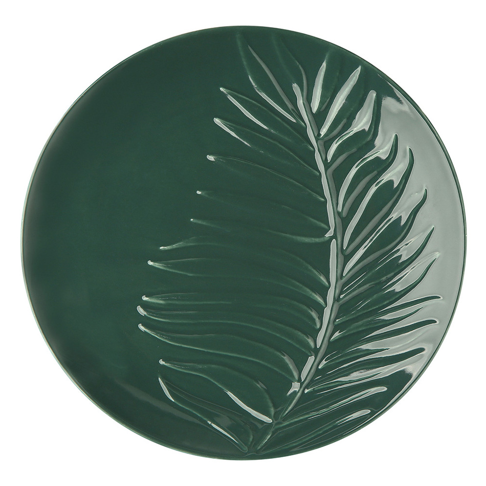 Altom Porcelánový dezertný tanier Tropical, 20 cm, zelená