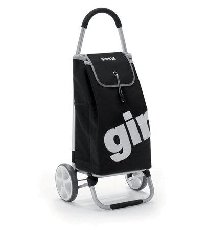 Gimi Galaxy kerekes bevásárlótáska, fekete
