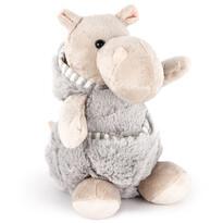 Hipopotam pluș, cu buzunar, 20 cm