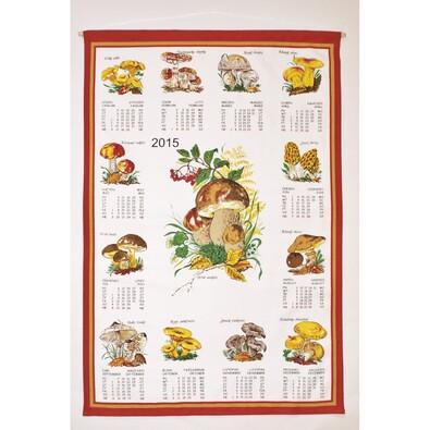 Textilní kalendář 2015 Houby, 45 x 65 cm
