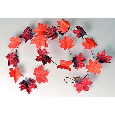 Podzimní girlanda 180 cm, červená
