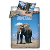 Bavlněné povlečení Animal Planet - Slon, 140 x 200 cm, 70 x 80 cm