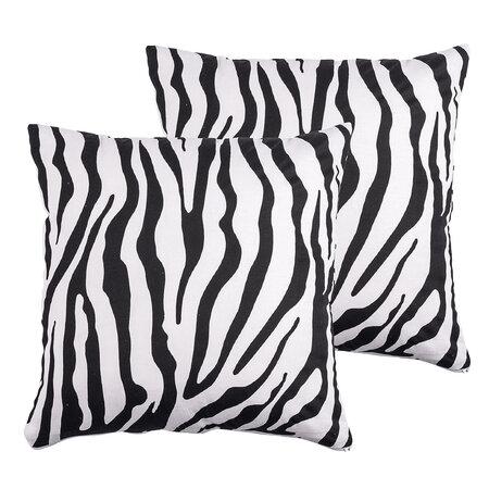 4Home obliečka na vankúšik Zebra, 40 x 40 cm, sada 2 ks
