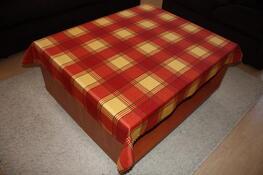 Teflonový ubrus čtverce, oranžová, 120 x 140 cm