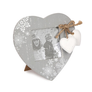 Altom Fotorámeček Love Winter šedá, 14 x 14,5 cm