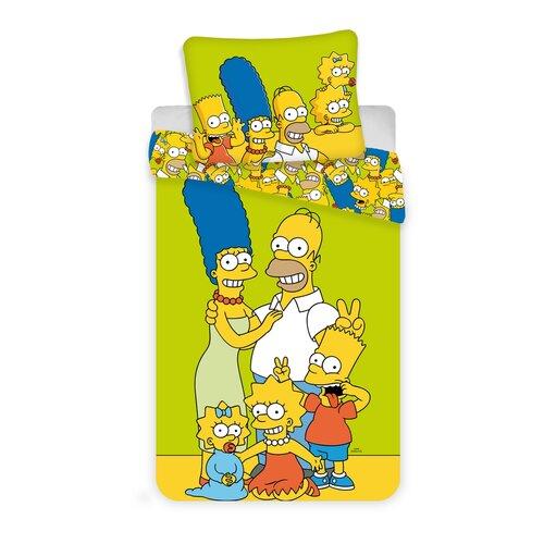 Jerry Fabrics Detské bavlnené obliečky Simpsons , 140 x 200 cm, 70 x 90 cm