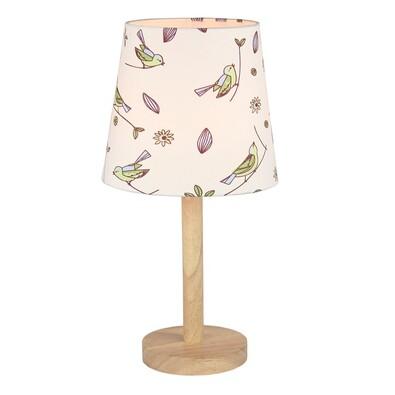 Stolná lampa Qenny 7, vtáčiky