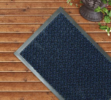 Venkovní rohožka modrá, 60 x 80 cm